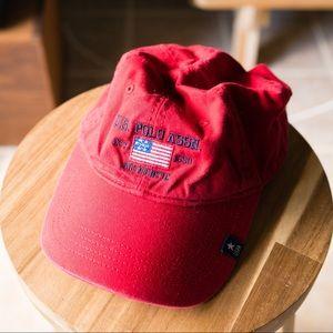 90s 00s Y2K Red U.S. Polo Assn Baseball Cap Hat